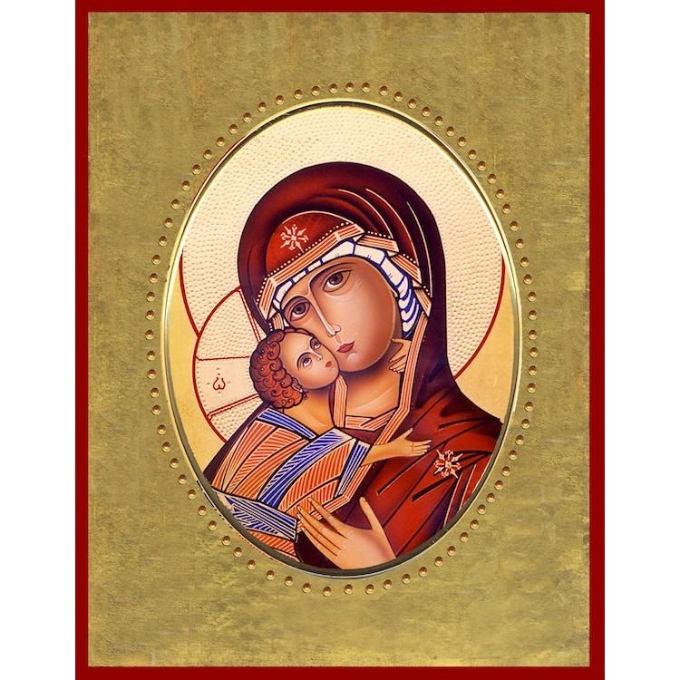 Vergine di Vladimir 15x20 cm.