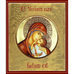 La Madonna dell'Incarnazione  ø 12 cm.