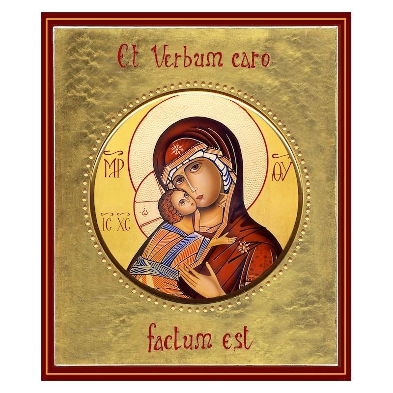 La Vergine di Vladimir ø 12 cm.