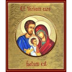 La Sacra Famiglia  ø 12 cm.