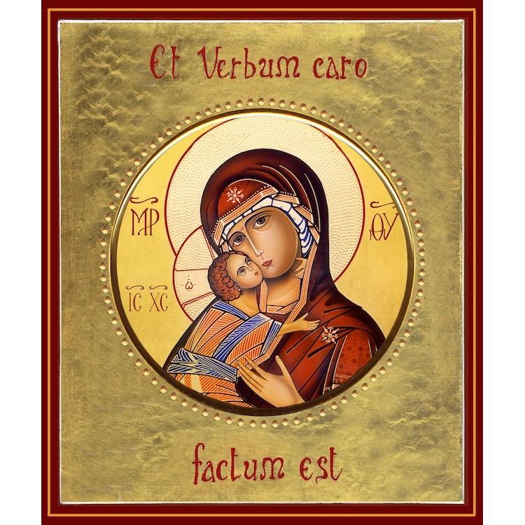 La Vergine di Vladimir  ø 19 cm.