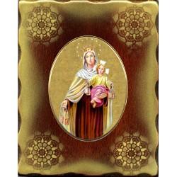 La Madonna del Carmelo 15x20 cm.