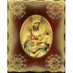La Madonna di Castelmonte 15x20 cm.