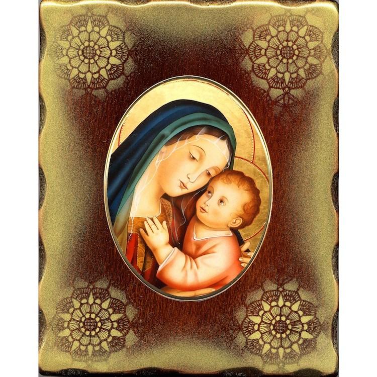 La Madonna del Buon Consiglio 15x20 cm.