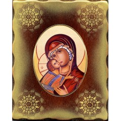 La Vergine di Vladimir 15x20 cm.