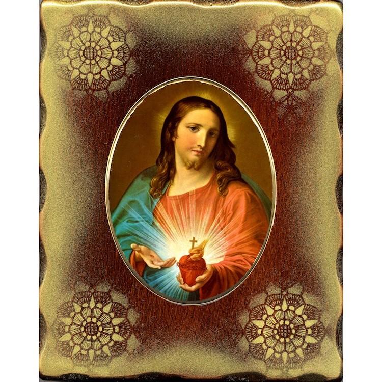 Il Sacro Cuore di Gesù 15x20 cm.