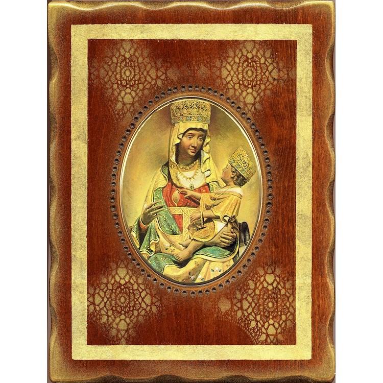 La Madonna di Castelmonte  18x24 cm.