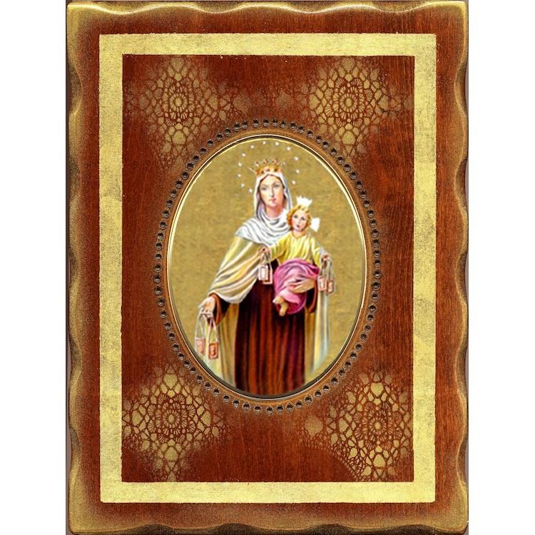 La Madonna del Carmelo  18x24 cm.
