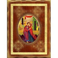 Sant' Anna e Gioacchino 18x24 cm.