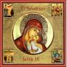 La Madonna dell'Incarnazione con scene della vita 30x30 cm.