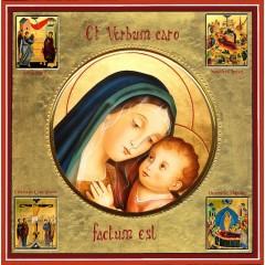 La Madonna del Buon Consiglio con scene della vita 30x30 cm.