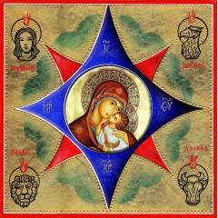 La Madonna dell' Incarnazione - La Santissima Trinità 30x30 cm.