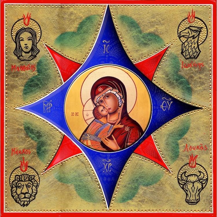 Il Roveto Ardente - La Vergine di Vladimir 30x30 cm.