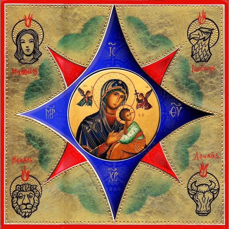 Il Roveto Ardente - La Madonna del Perpetuo Soccorso 30x30 cm.