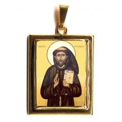 San Francesco su Pendente in Oro 750°°°