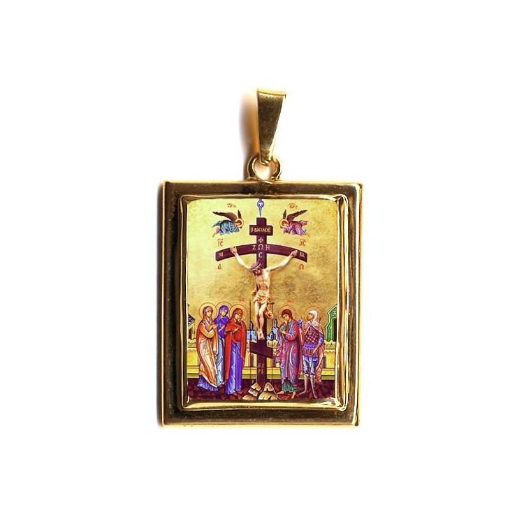 San Pio da Pietrelcina  su Pendente in Oro 750°°°