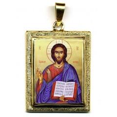 Cristo Pantocrator su Pendente in Oro 750°°°