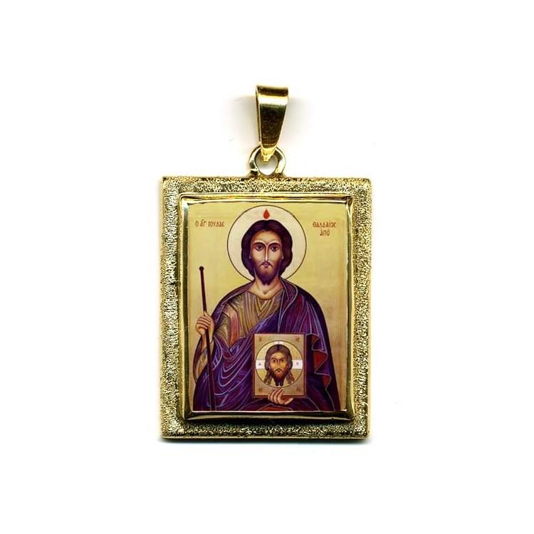 San Giuda Taddeo cugino di Gesù su Pendente in Oro 750°°°