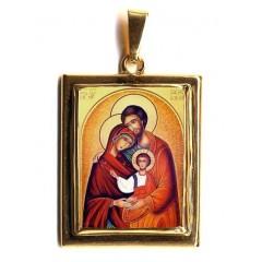 La Sacra Famiglia su Pendente in Oro 750°°°