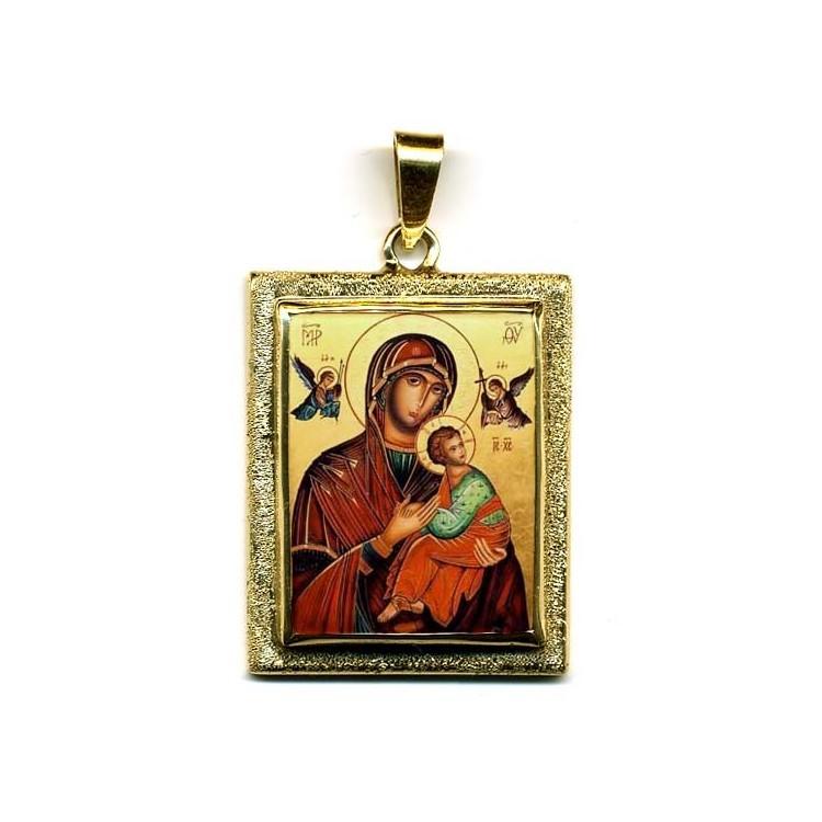 La Madonna del Perpetuo Soccorso su Pendente in Oro 750°°°