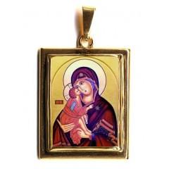 La Vergine della Tenerezza su Pendente in Oro 750°°°