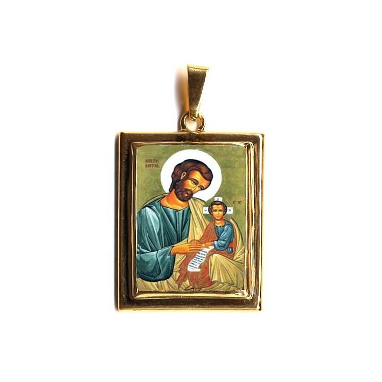 San Giuseppe su Pendente in Oro 750°°°