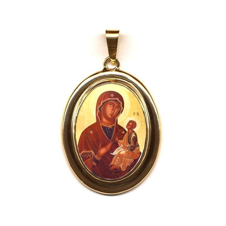 La Madonna di Sclavons su Pendente in Oro 750°°°