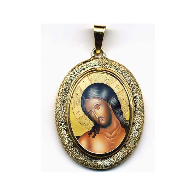 Cristo Sposo su Pendente Ovale in Oro 750°°°