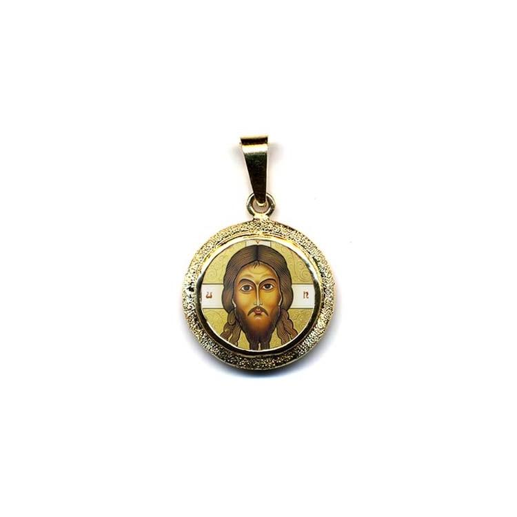 Il Santo Keramion su Pendente Tondo in Oro 750°°°
