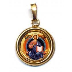 Cristo Glorioso su Ciondolo in Argento 925°°° Lucido o Diamantato