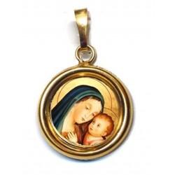 La Madonna del Buon Consiglio su Ciondolo in Argento 925°°° Lucido o Diamantato