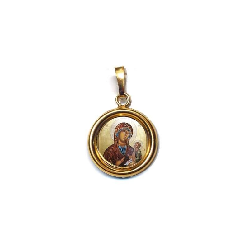 La Madonna di Sclavons su Ciondolo in Argento 925°°° Lucido o Diamantato