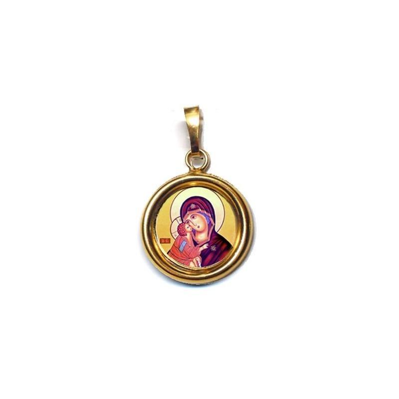La Vergine della Tenerezza Soccorso su Ciondolo in Argento 925°°° Lucido o Diamantato