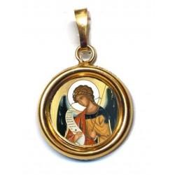L' Arcangelo Gabriele su Ciondolo in Argento 925°°° Lucido o Diamantato