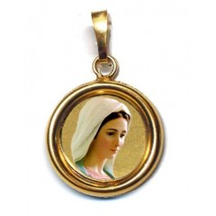La Madonna di Medjugorje su Ciondolo in Argento 925°°° Lucido o Diamantato