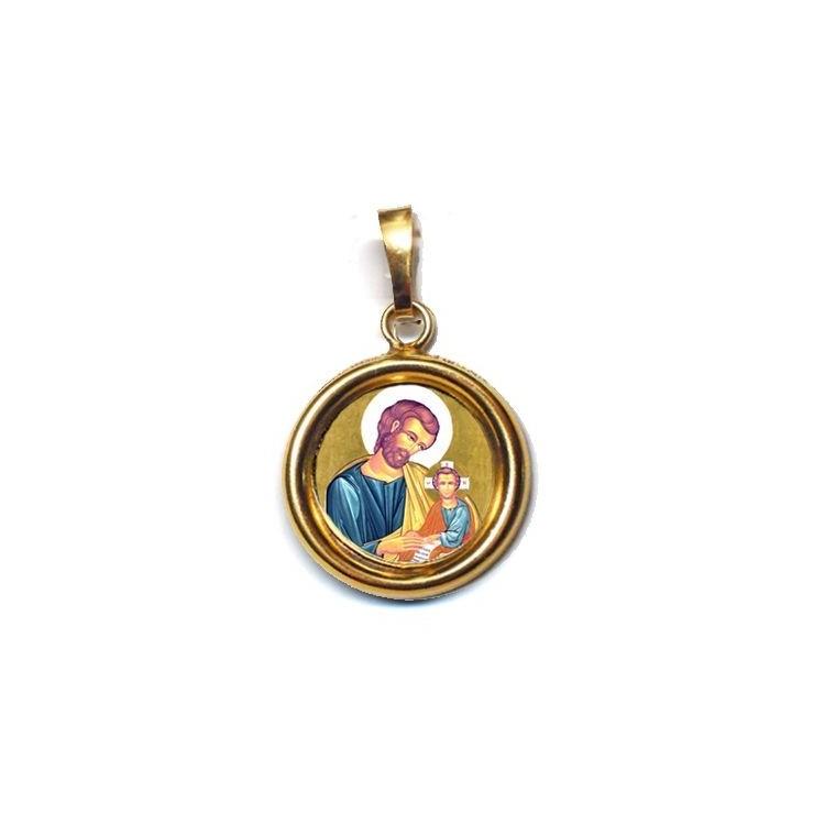 San Giuseppe su Ciondolo in Argento 925°°° Lucido o Diamantato