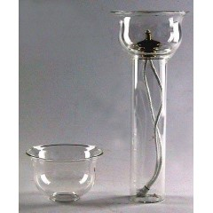 Vetri ANTIVENTO per finte candele 32-40-50 mm.