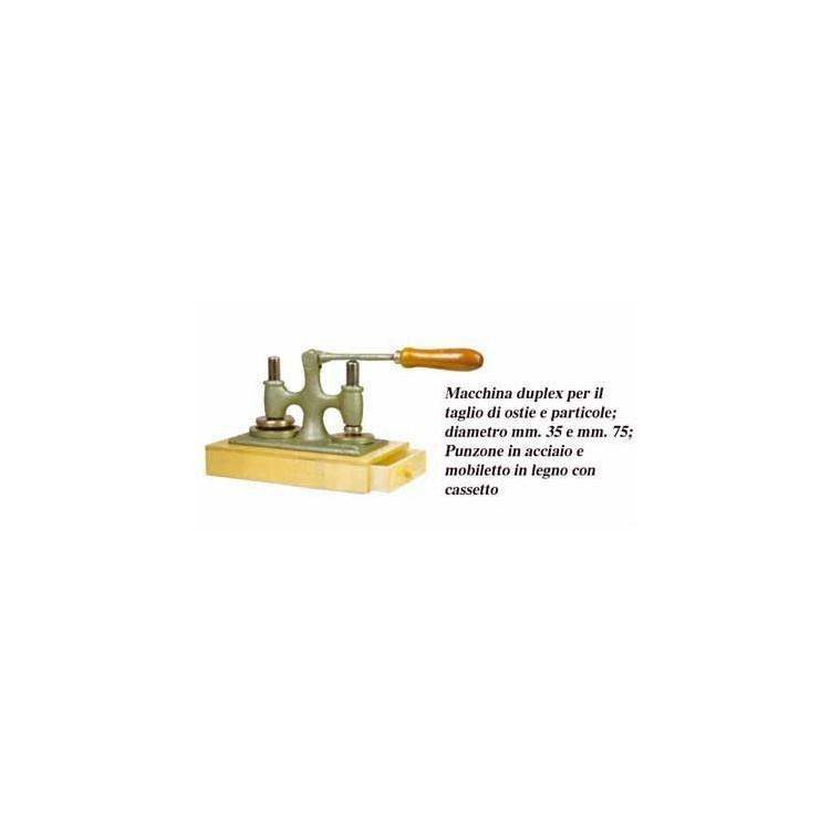 Macchina DUPLEX per il taglio di Ostie e Particole