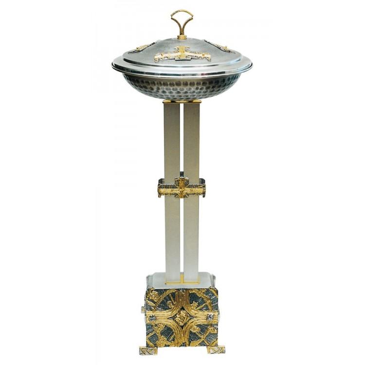 Fonte Battesimale in bronzo h. cm.120