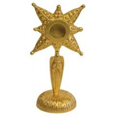 Reliquiario in ottone dorato con Angelo teca da 3,5 cm.