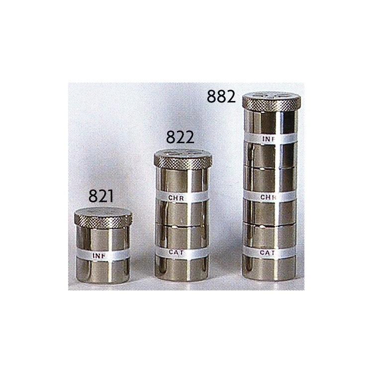 Vasetti in metallo per olii santi in 3 misure