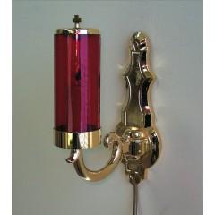 Lampada con Supporto elettrico a MURO Dorato