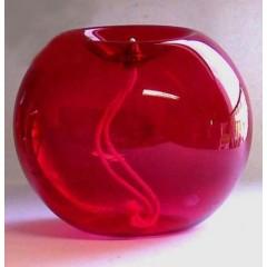Boccia in vetro rosso ø 16 cm.