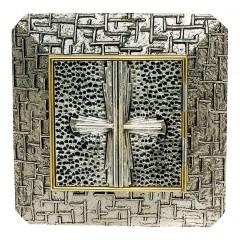 Tabernacolo da Muro in Ottone con Croce