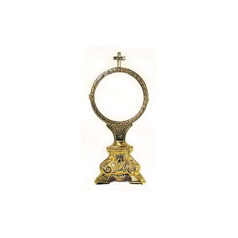 Espositore Ø 15 cm. per Ostia Magna in Ottone Dorato