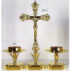 CANDELIERE Quadro e Croce in fusione Dorata
