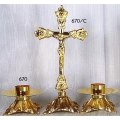 CANDELIERE e Croce in fusione Dorata