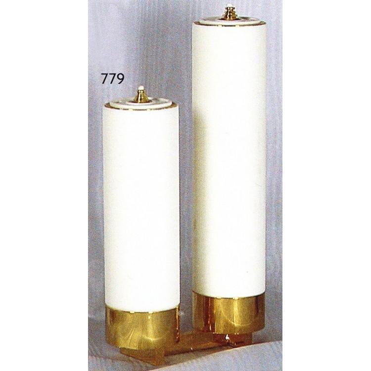 Candelieri 2 Fiamme a scala con finte candele ø 6