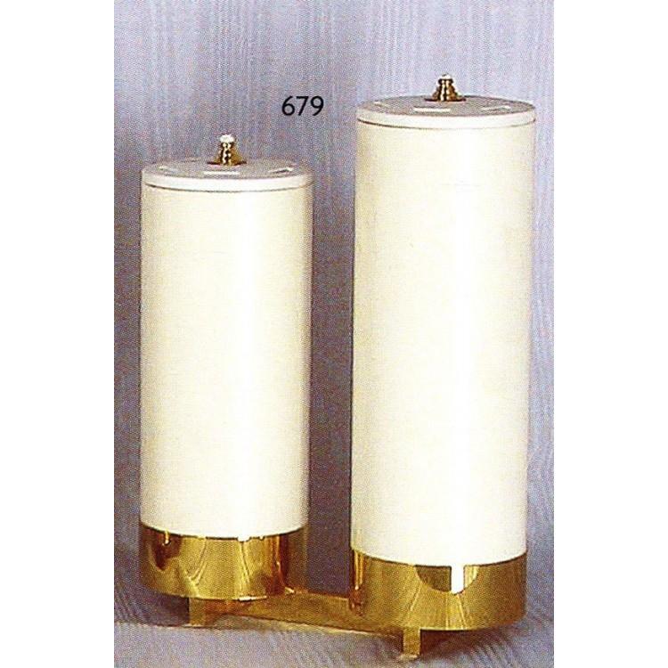 Candelieri 2 Fiamme a scala con finte candele ø 8