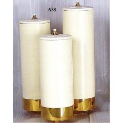 Candelieri 3 Fiamme a scala con finte candele ø 6